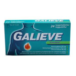 Galieve Peppermint tyggetabletter - 24 stk