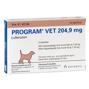 Program Vet hund 7-20 kg, 204,9 mg - 6 tabl