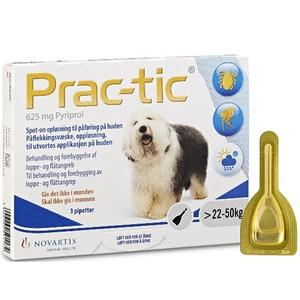 Prac-tic 625 mg - 22-50 kg - 3 pipetter