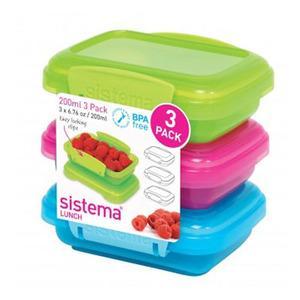 Billede af Sistema Opbevaringsboks 3-pack 200 ml Bl