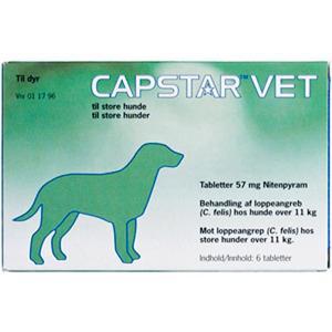 Capstar Vet loppemiddel til hund 11-57 kg, 6 tab - OBS dato!