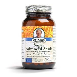 Udo's Probiotics super advanced adult +55 år - 30 kap