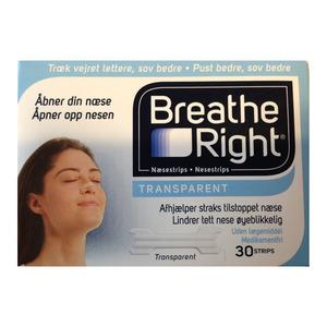 Breathe Right Næsestrips - 30 stk.
