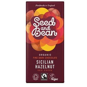Seed & Bean Mørk Chokolade 58% Hasselnød Ø