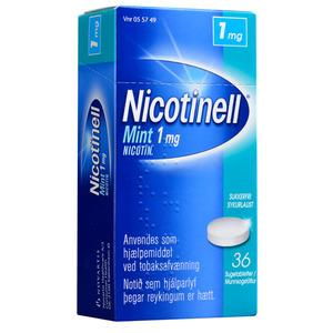 Nicotinell Mint Sugetablet 1mg - 36 stk