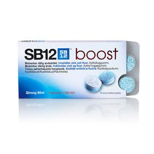 SB12 Boost tyggegummi (strong mint) - 10 stk.