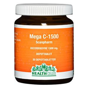 Health Care Mega C 1500 mg, stærk c-vitamin 30 tabletter