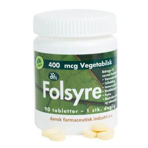 Grønne Dfi Vitaminer Folsyre