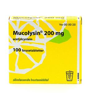 Mucolysin 200mg Citron - 100 brusetabletter