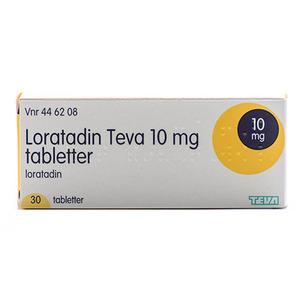 Loratadin Teva 10 mg - 30 tabletter