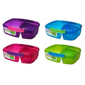 Billede af Sistema Triple Split Lunch Box with Youghurt pot 2 L