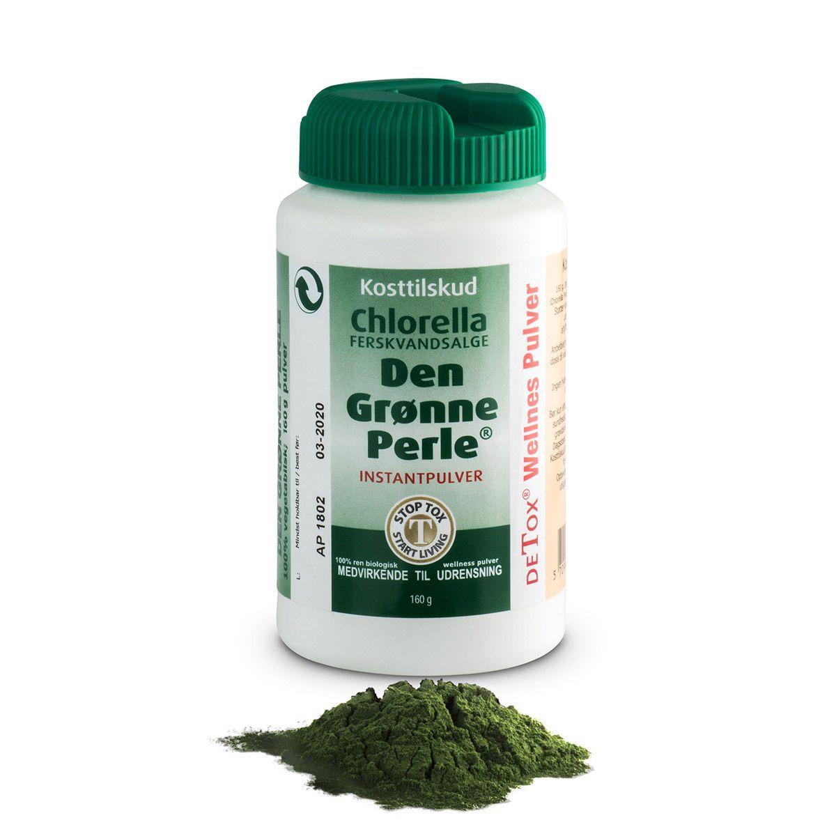 chlorella pulver dosering
