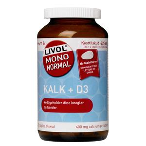 Livol Kalk + D3 vitamin 225 tabletter