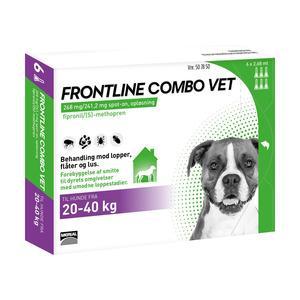 Frontline Combo Vet - hund - 20-40 kg - 6 pipetter