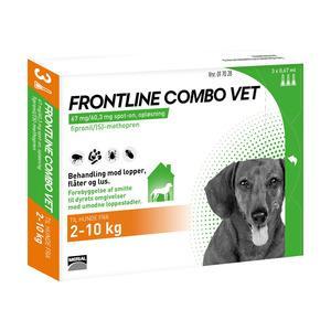 Frontline Combo Vet - hund 2-10 kg - 3 pipetter