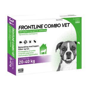 Frontline Combo Vet - hund 20-40 kg - 3 pipetter