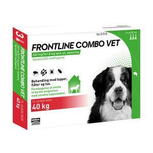 Frontline Combo Vet - hund over 40 kg - 3 pipetter