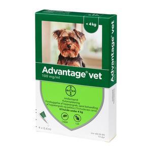Advantage pour-on Vet hund, 0-4 kg