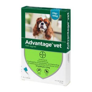 Advantage pour-on Vet hund, 4-10 kg