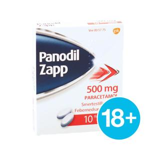 Panodil Zapp 500 mg - 10 tabletter