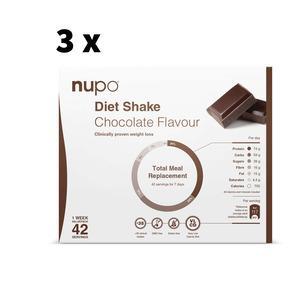 Nupo chokolade Megakøb - 4032g - 3 uger