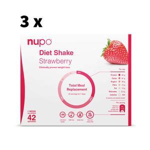 Nupo Jordbær Megakøb - 4032g - 3 uger