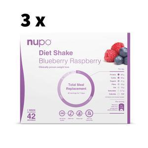 Nupo blueberry og raspberry Megakøb - 4032g - 3 uger