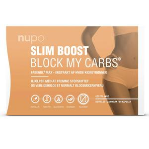 Nupo Slim Boost BLOCK MY CARBS - kulhydratblokker - 60 stk