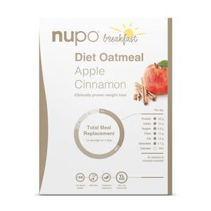 Nupo Diet Oatmeal - æble & kanel - 384 g