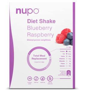 Nupo blueberry og raspberry - 384g