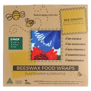 Bee Wrappy Beeswax Food Wraps - 3 Pack