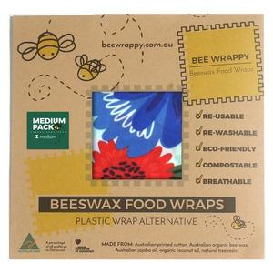 Bee Wrappy Beeswax Food Wraps - 2 x Medium