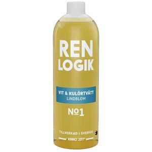 Billede af Ren Logik hvid og farve vaskemiddel lindeblomst - 750 ml