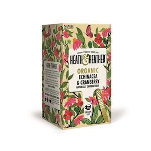 Billede af Heath & Heather Organic Echinacea & Cranberry Ø - 20 breve