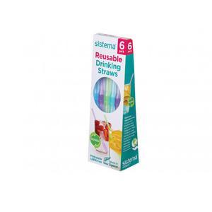 Billede af Sistema Reusable Straws 6 Pack - 1 pakke