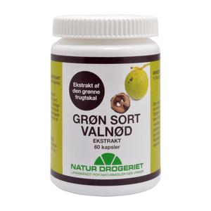Natur-Drogeriet Grøn Sort Valnød ekstrakt - 60 kap