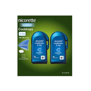 Nicorette Cooldrops Icy mint 2 mg - 160 sugetabletter