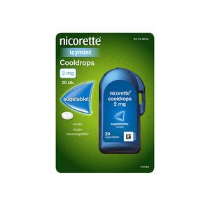 Nicorette Cooldrops Icy mint 2 mg - 20 sugetabletter