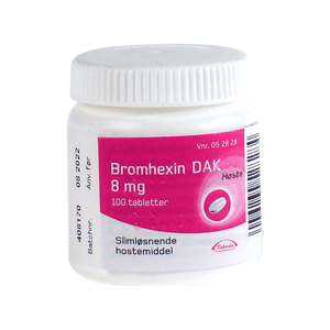 Bromhexin 8mg - 100 tabletter