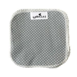 WeeCare vaskeklude, Dots/Dusty Blue - 10 stk.