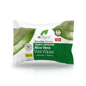 Dr. Organic Aloe Vera Wet Wipes - 20 stk.