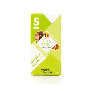 Sweet Switch Mælkechokolade Med Nødder Sukkerreduceret
