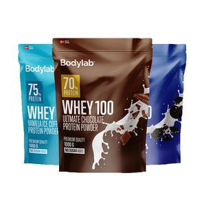 Billede af Bodylab Whey 100 proteinpulver 1 kg - flere varianter
