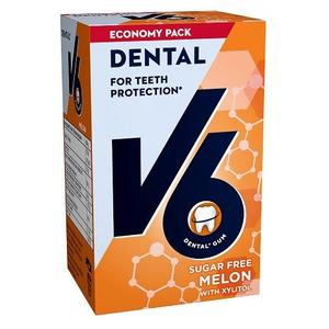 V6 Dental Care Melon - 50 stk.