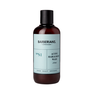 Barberians Active Hair & Body Wash - 250 ml.
